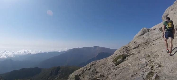 From Pratti rocky climbing